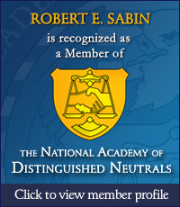 Robert E. Sabin - National Academy of Distinguished Neutrals